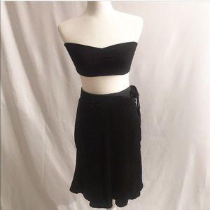 Express Shiny Wrap Skirt L